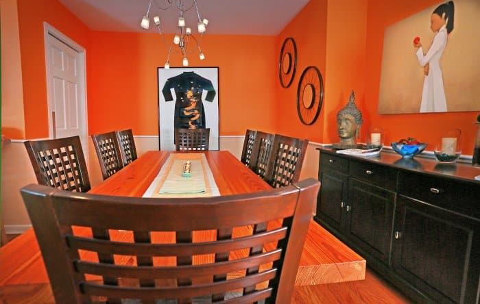 orange dining room paint colors photo by frank espich - Painting Dining Room