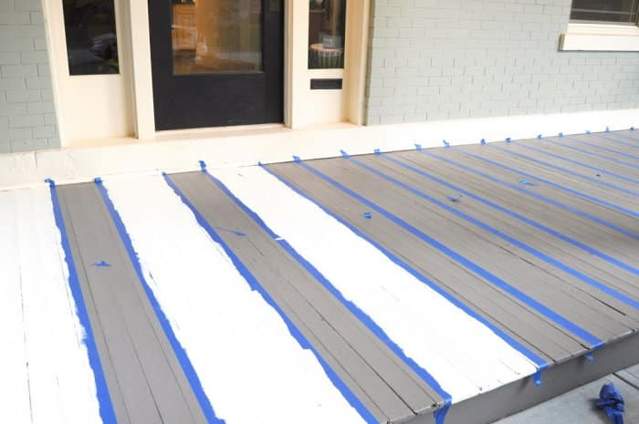 painting stripes on porch
