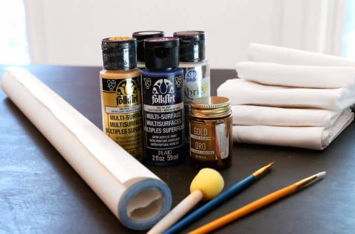 supplies for painting cloth napkins