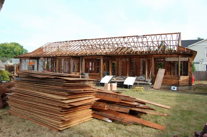 salvaged lumber from home deconstruction
