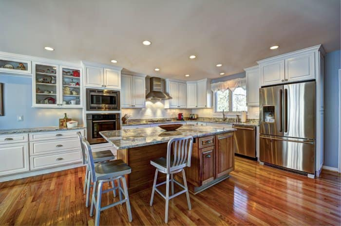 Kitchen With Professionally Installed Recessed Ceiling Lights