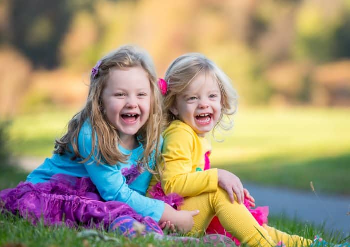portrait photography of sisters