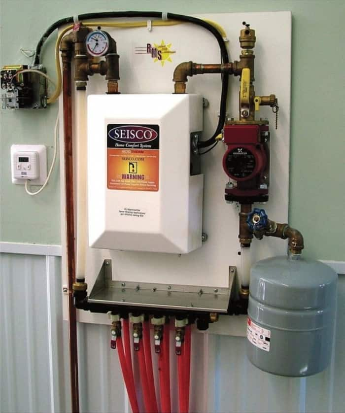 Wall Mounted Radiant Heating System