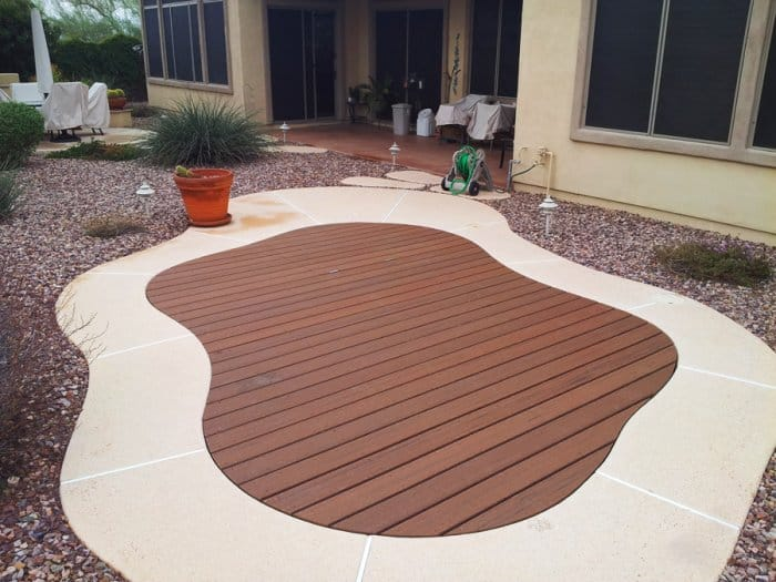 Phoenix contractor builds decks over pools angie 39 s list - Covering a swimming pool with decking ...