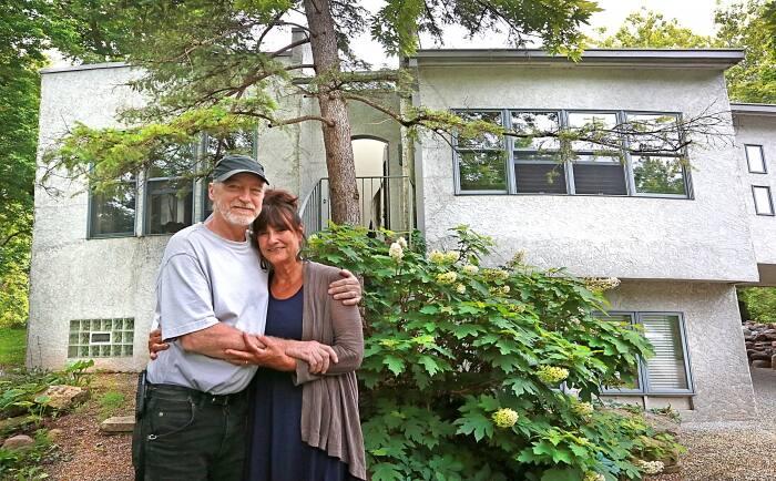 Carol Marotti and Scott Westphal designed their Rocky Ripple dream home. (Photo by Frank Espich)
