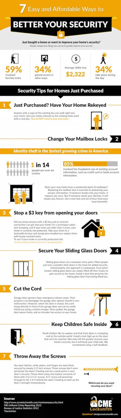 improve home security infographic