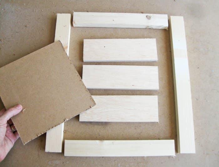 wood scraps for DIY sign