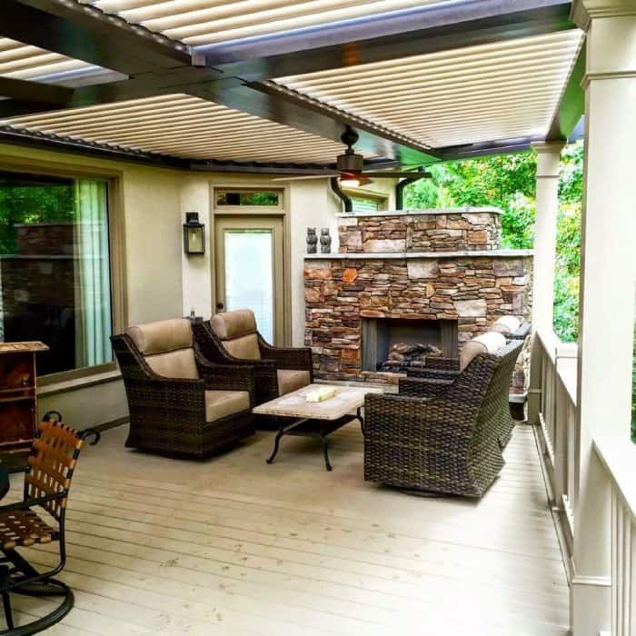 Smart Pergola With Movable Louvers
