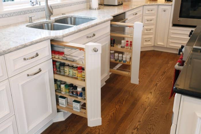 pull-out spice rack drawer