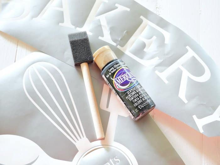 stencil supplies for DIY wood sign