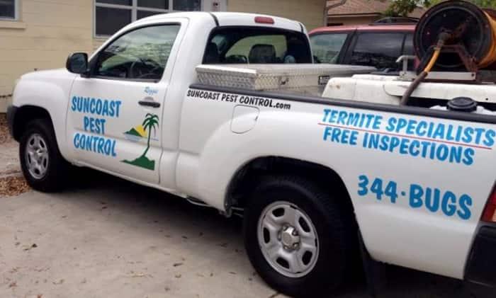 Suncoast Pest Control company truck