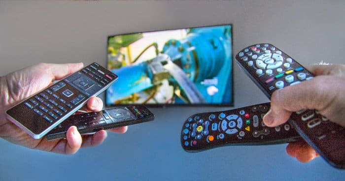TV and remote controls