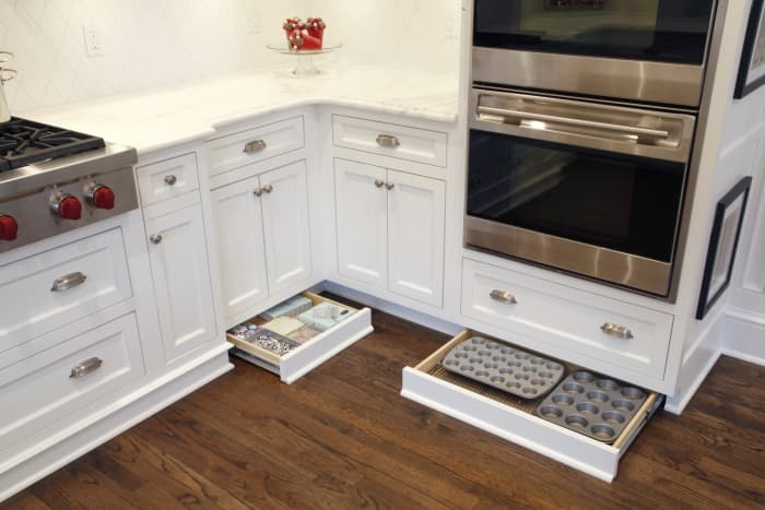 toe-kick drawers in kitchen