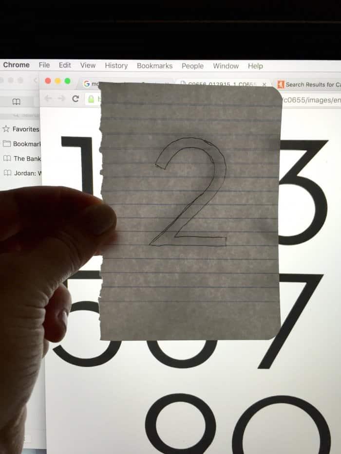 DIY number stencils