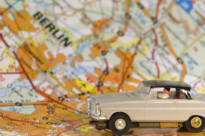 toy car and map