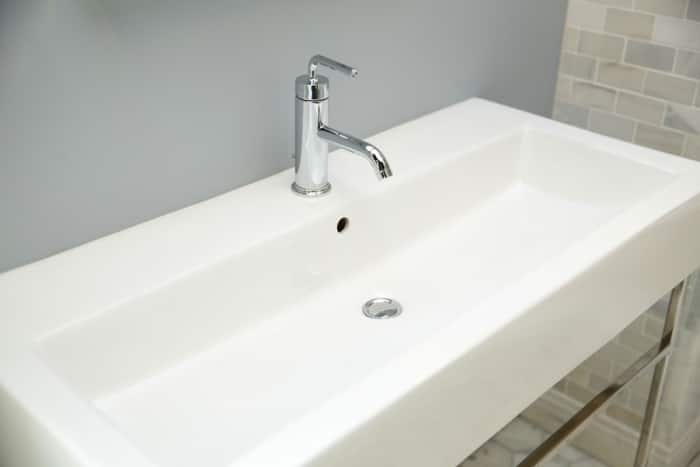 Trendy Rectangular Bathroom Sink