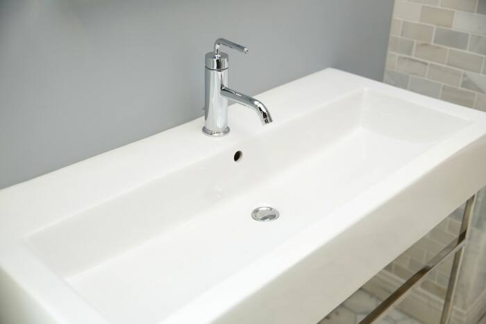 trendy rectangular bathroom sink