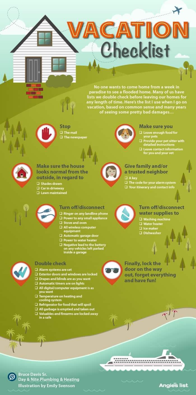 vacation checklist infographic
