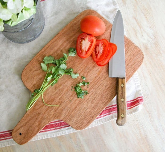 farmhouse-style cutting board