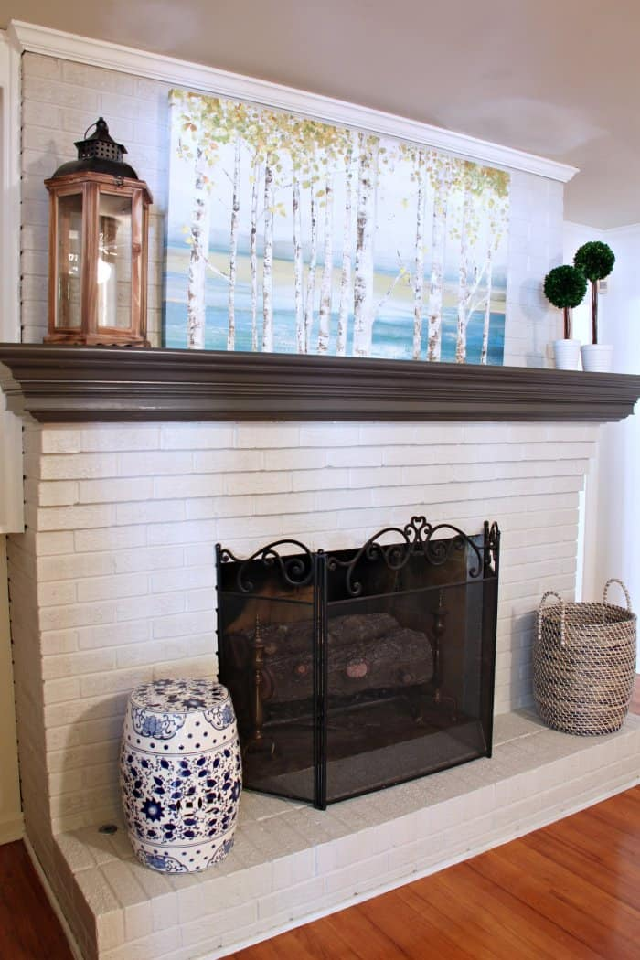 Dated Brick Fireplace gets Painted White | Angie's List