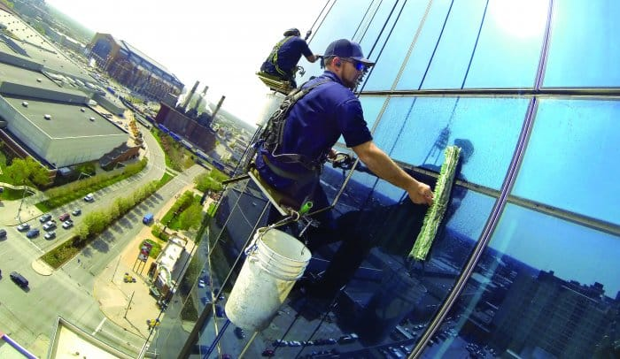 window washers at the jw marriott in indianapolis