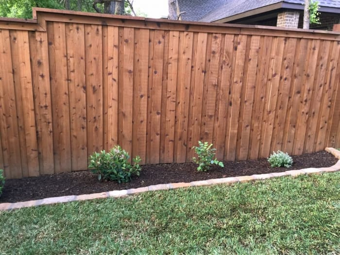 Sod Laid Next To A Fence