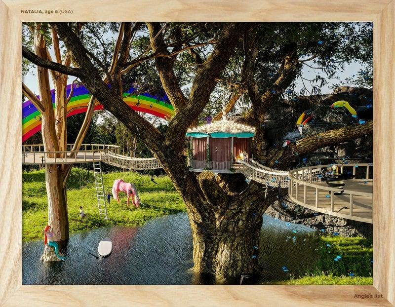 rendering of Natalia's backyard by a designer
