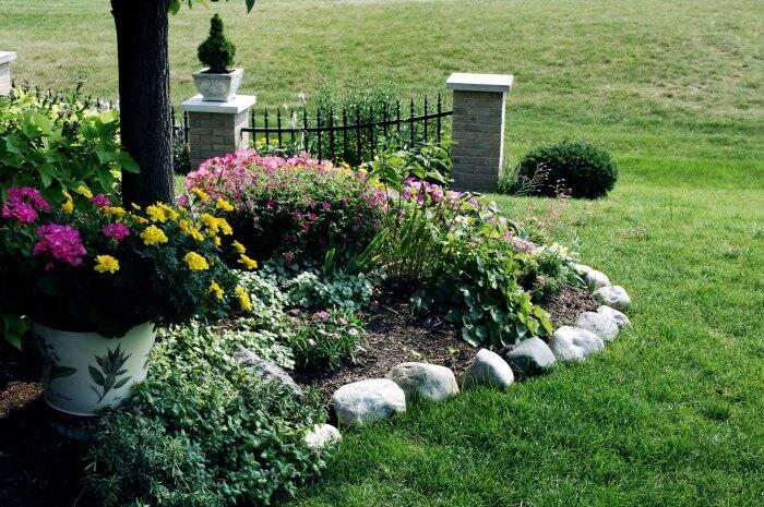 Lay similar-sized stones along a garden for a unique border. (Photo courtesy of iStock Photos)