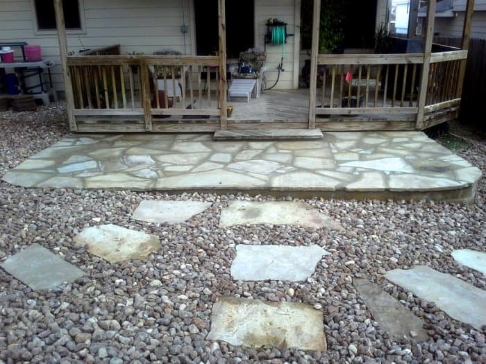 Flagstone Walkway And Patio