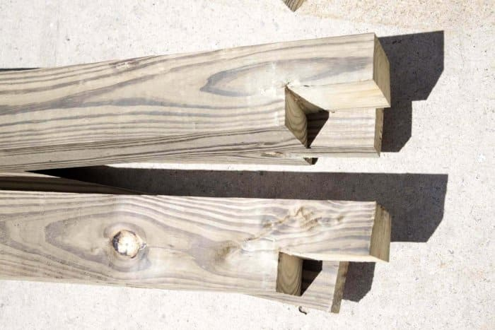 Create notched wood for a garden box. (Photo courtesy of Jamie Lott/Southern Revivals)