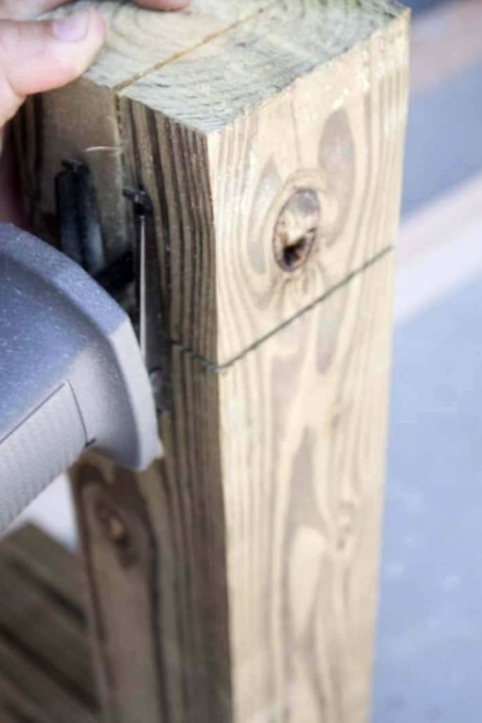 Finish the cut with a reciprocating saw if necessary. (Photo courtesy of Jamie Lott/Southern Revivals)
