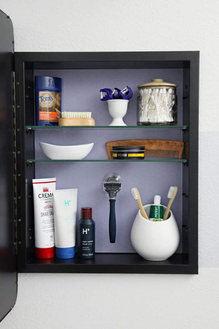 Adjustable Shelves Make The Medicine Cabinet Perfect For Bathroom Items Of  Various Sizes. (Photo