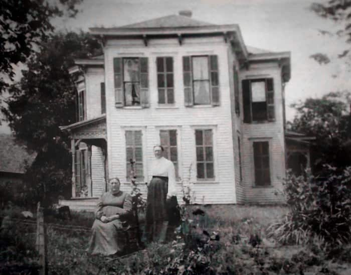 Old photo of McShane House in Carmel, Indiana