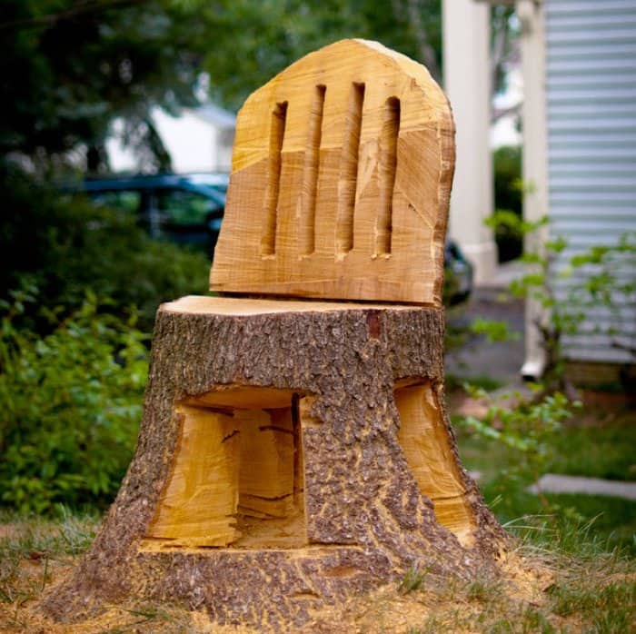 Awesome Tree Stump Ideas Part - 12: Tree Stump Chair