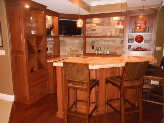 corner bar in basement