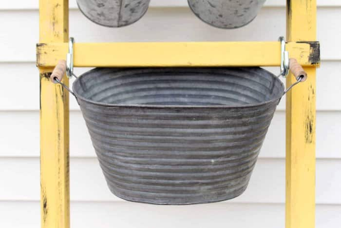 Larger containers require two s-hooks and must be secured. (Photo courtesy of Angie Holden/The Country Chic Cottage)