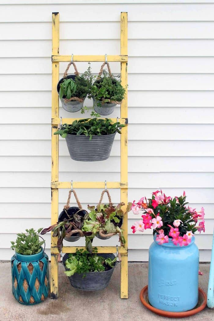 Add fresh veggies to your garden by creating a vertical space. (Photo courtesy of Angie Holden/The Country Chic Cottage)