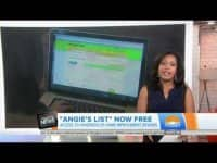 Today Show reports on Angie's List new, green membership level.