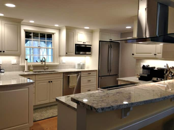 Costs And Installation Kitchen Cabinets Remodel Lighting Island Hood Stainless Steel