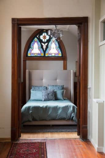 guest bedroom in church house