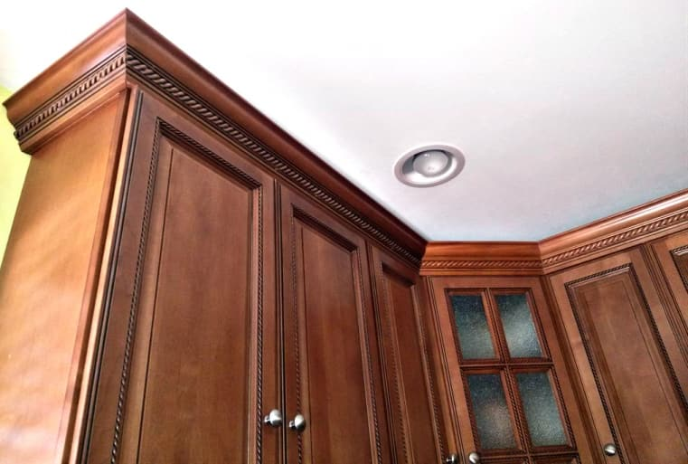 Crown Molding Rope Kitchen Cabinets