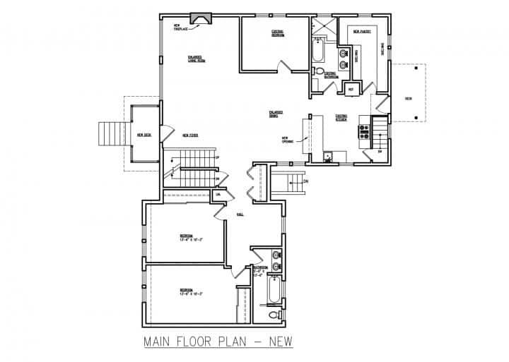 Home Addition Design Blueprint