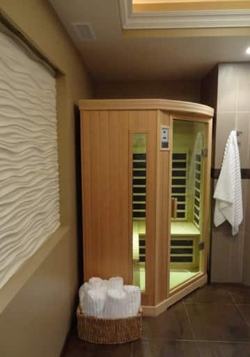 Home Sauna, Wave Wall, Custom Bathroom