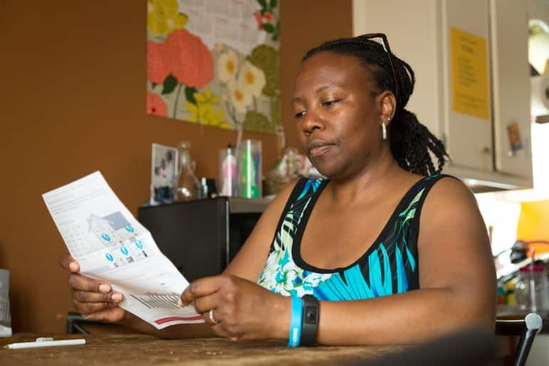 consumer evaluating a service bill