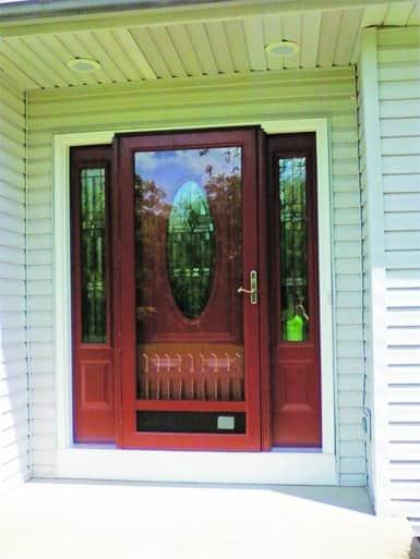 red storm door on home