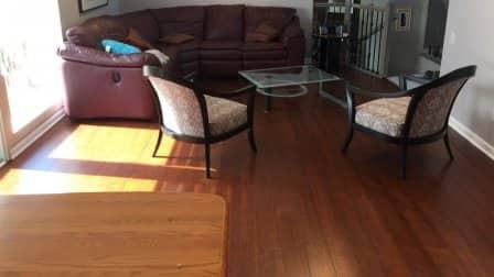bamboo flooring living room