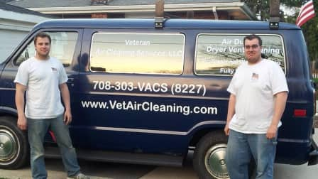 Karl Schleitwiler (left) and Joshua Zajac started Veteran Air Cleaning Service in suburban Chicago in February 2013. (Photo courtesy of Joshua Zajac)