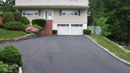 asphalt driveway after sealcoating job