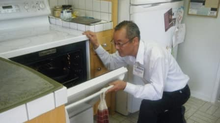 home inspection, oven
