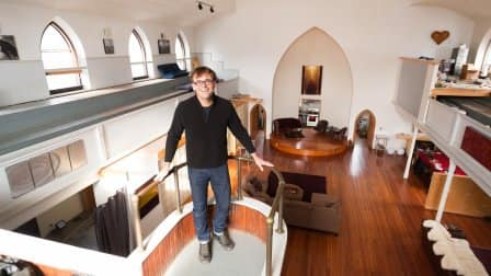 Andrew Sudds balcony of converted church house
